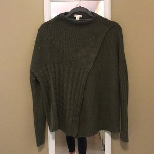 XHILARATION target army green sweater